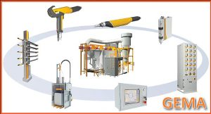 Automatic powder coating booth and new reciprocators